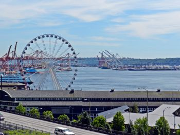 Seattles havn, set fra Pike Place Market