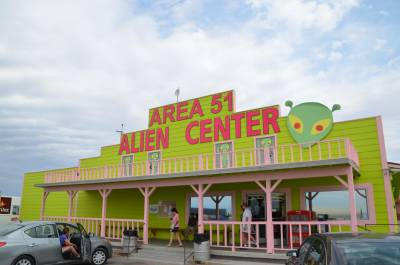 Alien rest area and gas